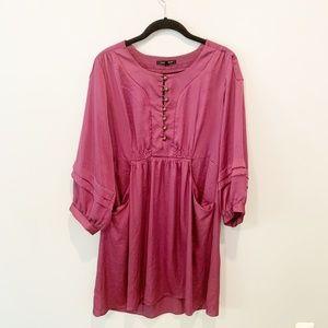Nanette Lepore Fuchsia Knee Length Midi Dress